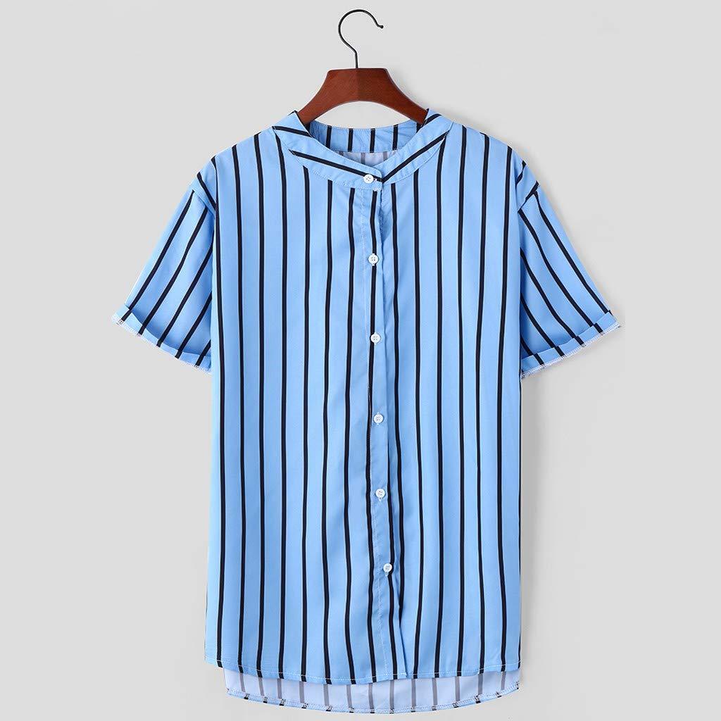 SEXYTOP Mens Stand Collar T Shirts Short Sleeve Henley ...