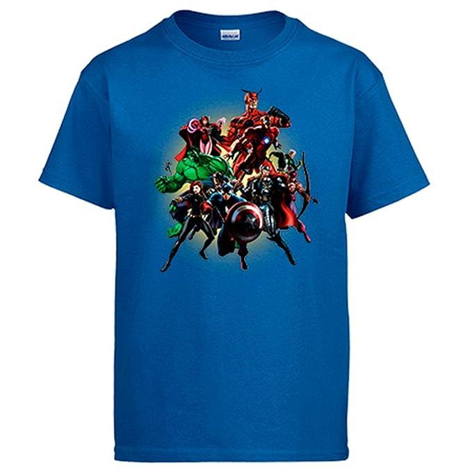 Diver Camisetas Camiseta Los Vengadores Ilustración de Superhéroes: Amazon.es: Ropa y accesorios