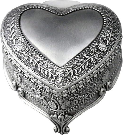 RMXMY Moda romántica en Forma de corazón Caja de música de ...