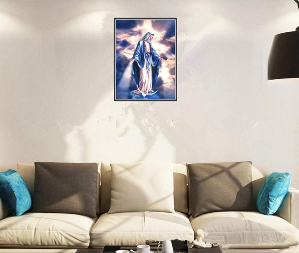 Art, 20 x 50 cm Sunnay Diamond Painting 5d Diamant Painting DIY Madonna Herrliche Erde 30x40cm Kleiner Teich Stickerei Malerei Kreuzstich Kunstharz Dekoration Kit Kristalle Dekor Handwerk