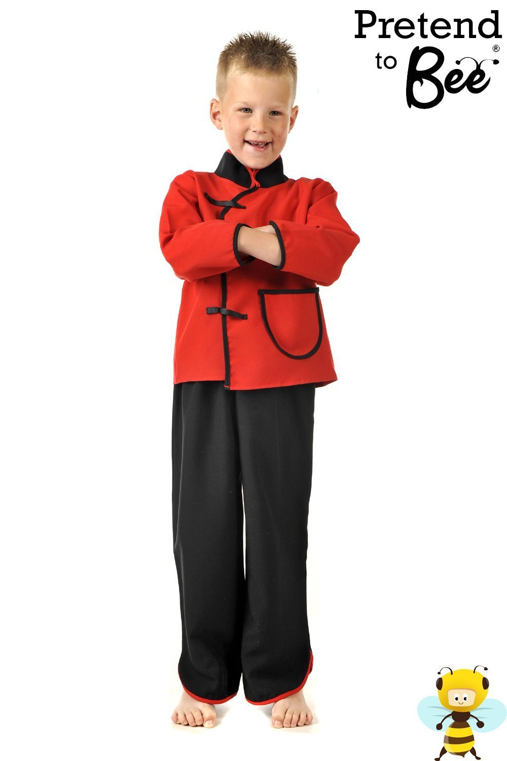 ef19f3375b Boys Kids Childrens Chinese Man Boy Fancy Dress Multicultural Costume 3-5  Years  Amazon.co.uk  Toys   Games