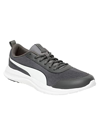 cbac21a8db PUMA Men s Omega IDP Asphalt-Charcoal Gray White Sneakers-10 UK India (