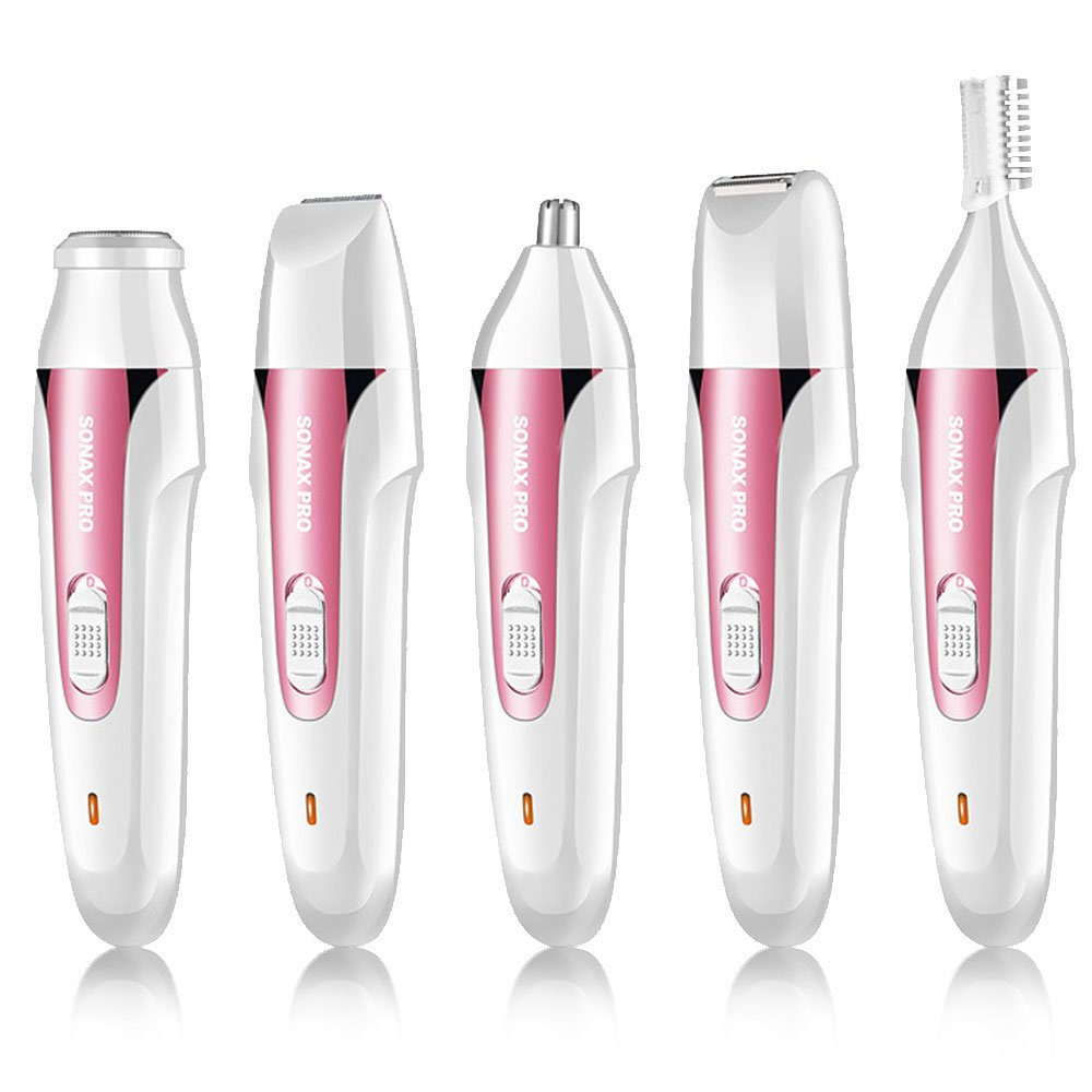 Lady Shaver 4 in 1, Nose Hair Trimmer, Rechargeable Eletronic USB Charging Wet & Dry Hair Remover Nose Ear Eyebow Trimmer for Body Bikini Armpi Face Leg Hand (Fuchsia) ZITRADES