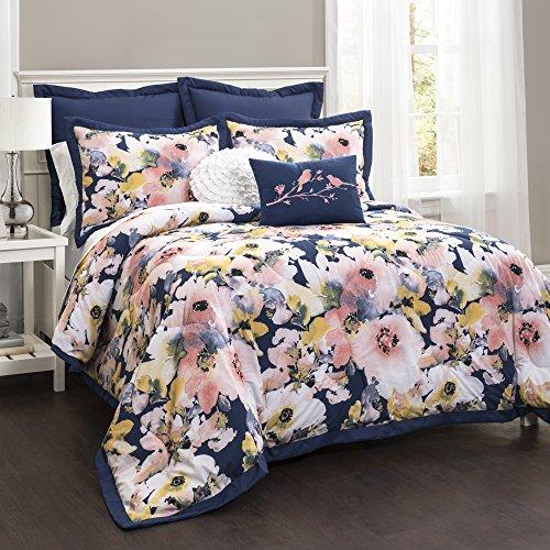 Lush Decor Lush Décor Floral Watercolor 7 Piece Comforter Set, Full/Queen, 0