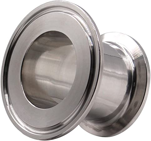 """SS304 Tri Clamp 1.5/"""" x 2.5/"""" x 15/"""" Through the Wall Fitting"""