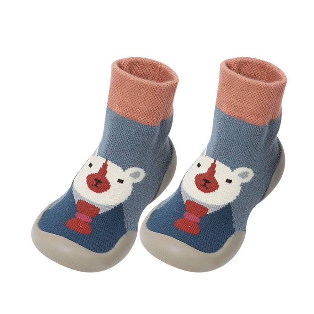 Du/šial Baby Girl Boy Toddler Anti-Slip Winter Warm Slippers Socks Cotton Shoes for Winter Home