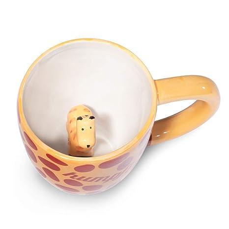 Amazon.com: Sorpresa jirafa taza de café taza con jirafa ...