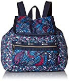 LeSportsac Mini Voyager Drawstring Back pack, East Combo Blue, One Size