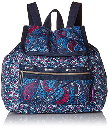 LeSportsac Mini Voyager Drawstring Back pack, East Combo Blue, One Size by LeSportsac