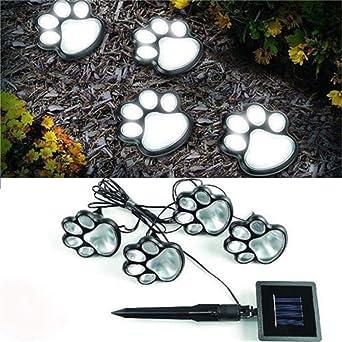 Mirray - Luz solar de pata de animal de gato 4 de perro solar ...