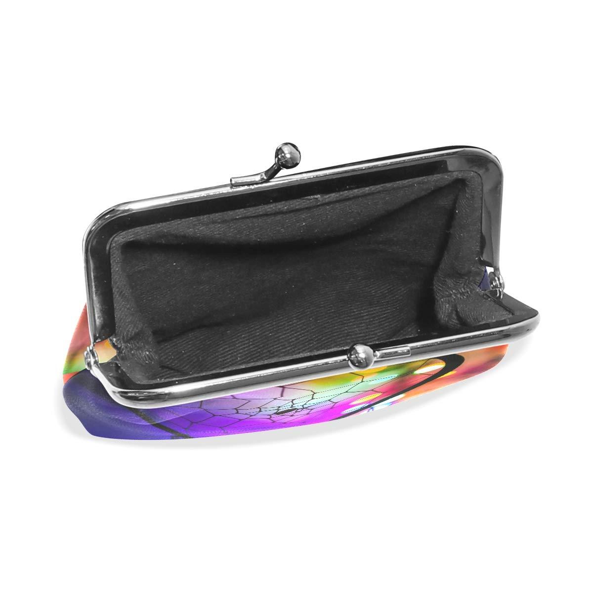 65a335d49e3a MALPLENA Colorful Dream Catcher change purse for women leather purse ...