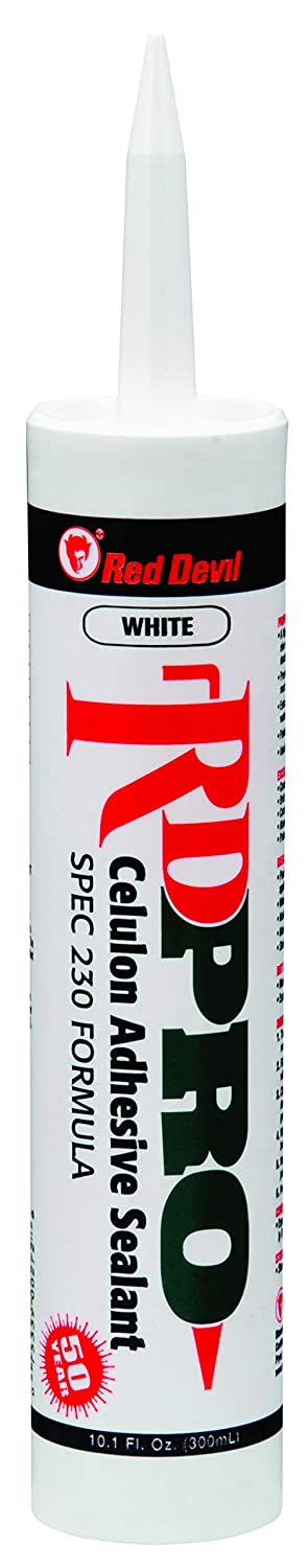 Red Devil 09260I RD Pro Celulon Adhesive Sealant 10.1 oz White