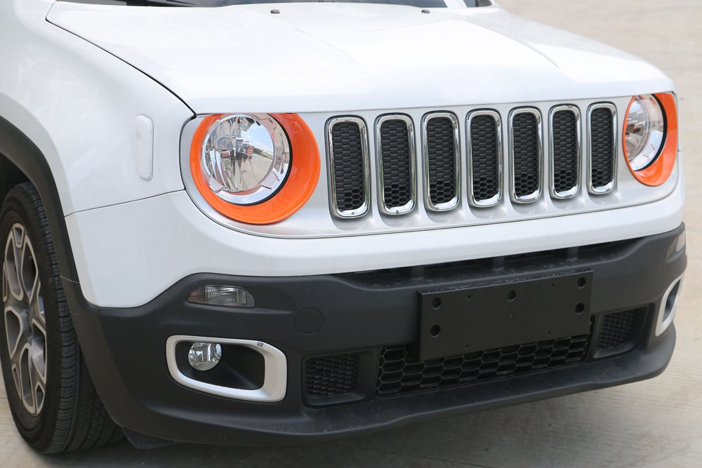 YiXunTen for 2015 2016 2017 2018 Jeep Renegade ABS Orange Car Headlight Cover Frame Decal Decor Trim