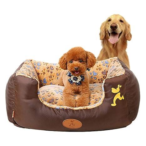 PETwo - Caseta Grande para Mascotas, diseño de Huella de Perro, Color Coral