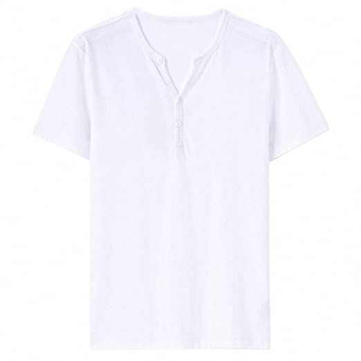 Men T-shirt Clothing Casual Tee Henley Neck Tshirt Camisa Masculina Short Sleeves Tee Shirt Homme at Amazon Mens Clothing store:
