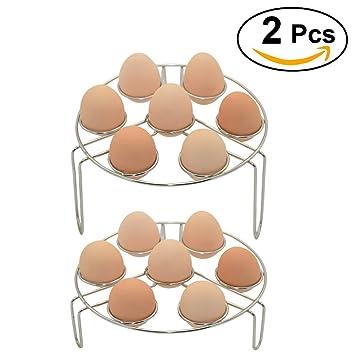 Volla Instant Pot huevo vapor accesorio de verduras Alimentos Vapor Vapor rack para olla a presión accesorios - 2 unidades: Amazon.es: Hogar