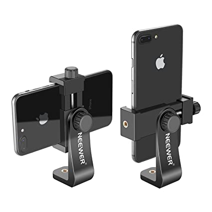 amazon com neewer smartphone holder vertical bracket with 1 4 inch