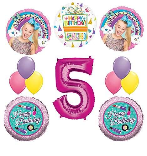 JoJo Siwa Party Supplies Dream Crazy Big 5th Birthday Balloon Bouquet Decorations by Mayflower Products (Image #9)