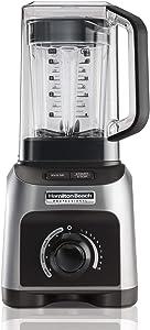 Hamilton Beach Professional 1500W Quiet Shield Blender with 32 oz BPA-free Jar & 4 Programs, Silver (58870) (Renewed)