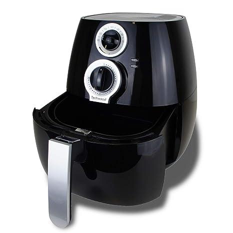 Freidora de aire caliente, Airfryer, freidora sin grasa, fácil de limpiar, cesta de 3,2 litros, 1400 W, color negro: Amazon.es: Hogar