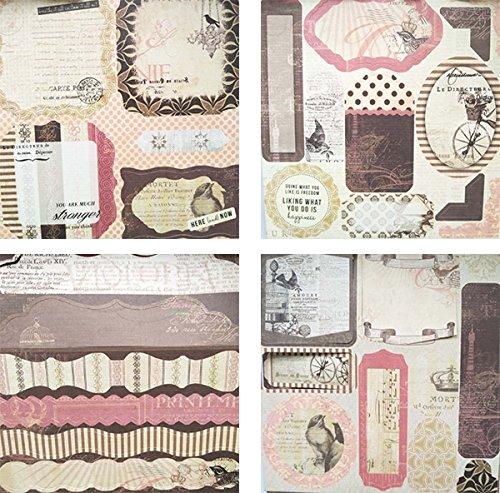 "Gnognauq 40Pcs Multi-Colored Designer Paper Decorative Craft Paper for Creative Scrapbooking and Cards,7''X7"" (DSM013)"