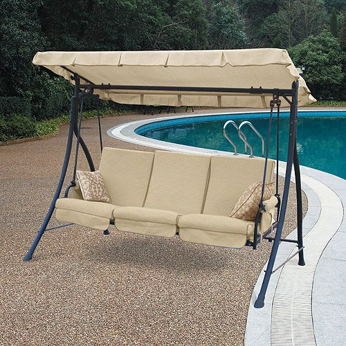 Garden Winds Harvey 3-Seater Hammock Swing Replacement Canopy Top Cover