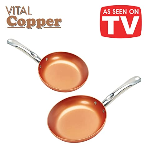 Vital Copper. Juego de 2 sartenes de 22 y 26 cm de cerámica ...