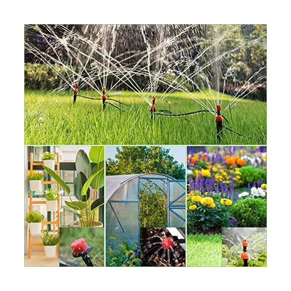 Tencoz Kit di irrigazione a Goccia, 30m Set di Irrigazione Regolabile Sistema di Irrigazione da Giardino DIY Kit di… 6 spesavip