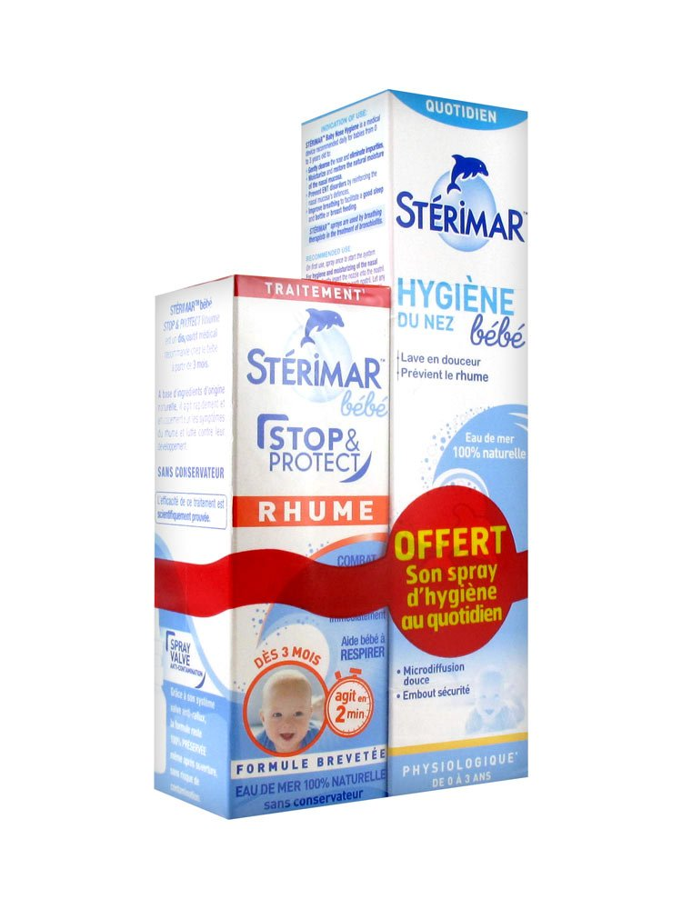 Stérimar Baby Stop & Protect Cold 15ml + Nose Hygiene 50ml Sterimar