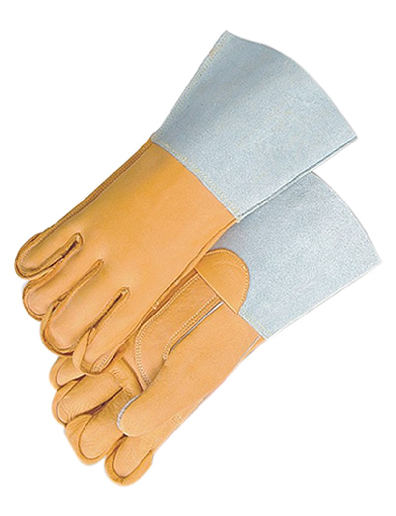 Majestic Glove 1516A//10 Linemans Glove Brown Gauntlet Large Pack of 12