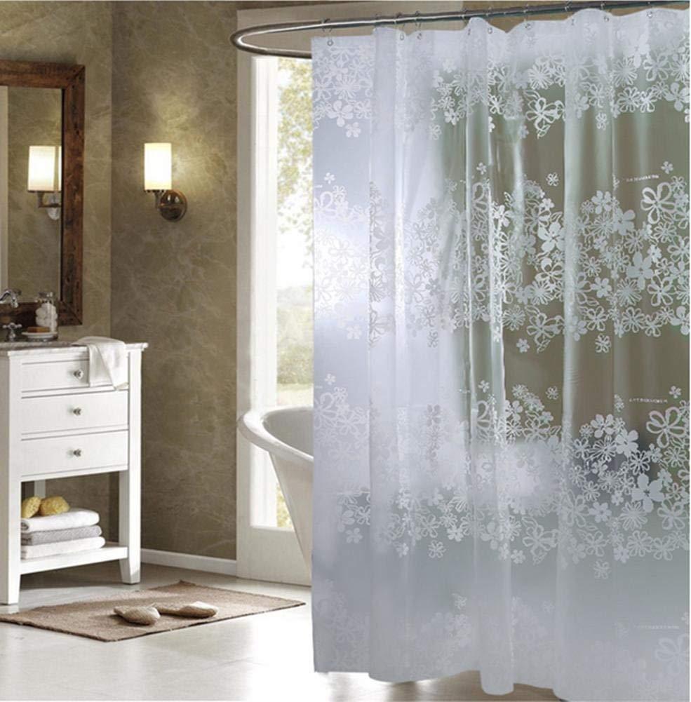 JaHGDU Shower Curtain 1pcs Shower Curtain Simple Peva Material Waterproof Bathroom Amenities Opaque Mildewproof Thickened Stripe Translucent Durable (Size : 180cm200cm)