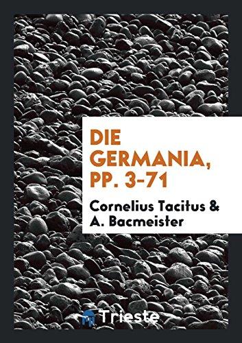 Die Germania, pp. 3-71