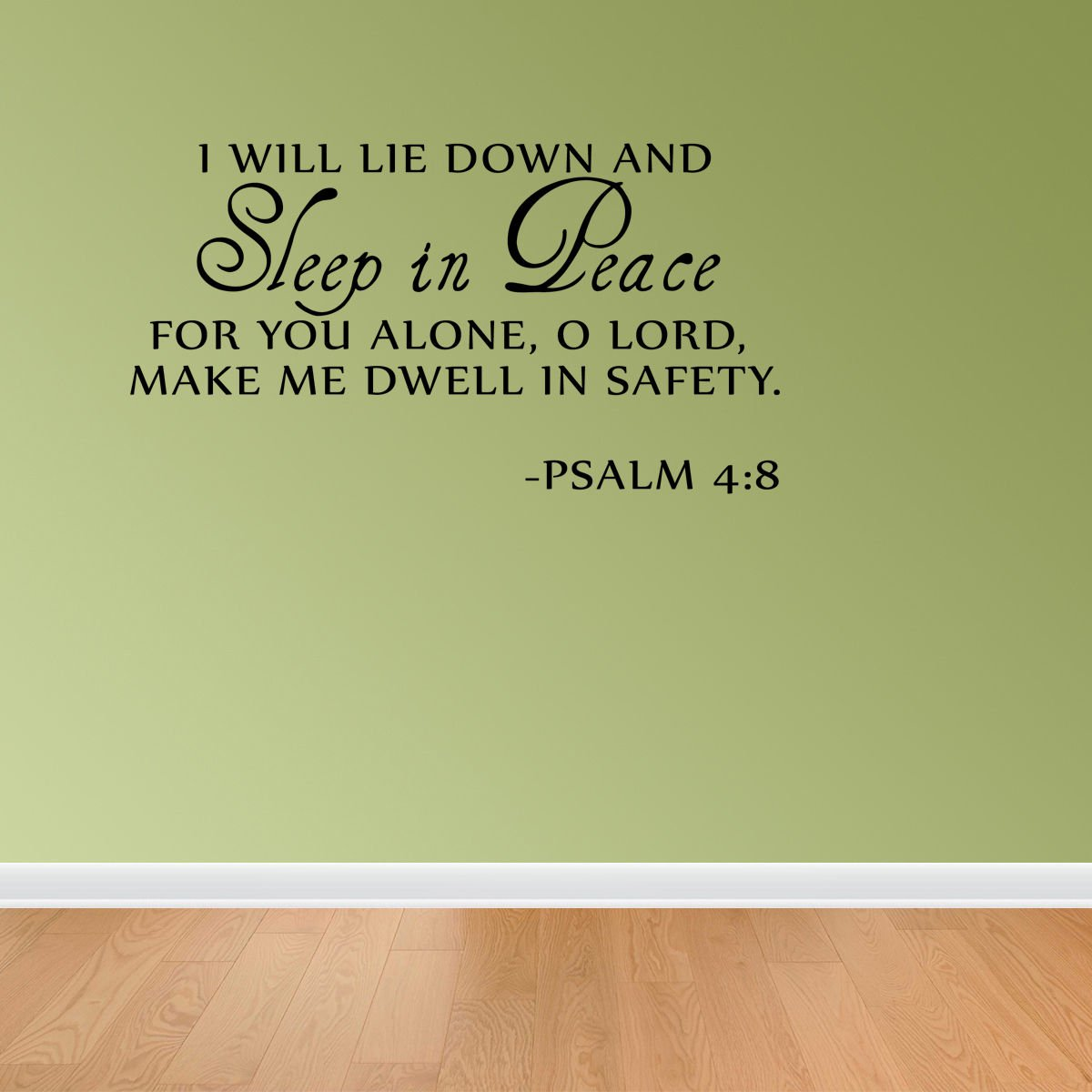 Amazon.com: Sleep In Peace Psalm 4:8 Bible Verse Lettering Wall ...