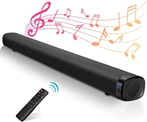Sound Bar for tv, Ansee Soundbar with Built-in Subwoofer 2.1ch 36-Inch Bluetooth 5.0 TV Speakers 3D Surround Sound Speaker 3 Equalizer Mode Support HDMI/Optical/AUX/RCA/Coaxial/USB for Home Theater
