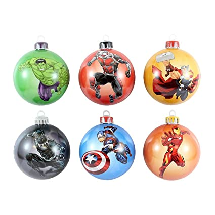 Marvel Christmas Tree.Marvel Official Avengers Baubles Christmas Tree Decorations