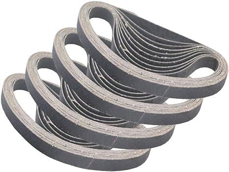 3 8 Inch X 13 Inch Sanding Belts 4 Each Of 80 120 240 320 400 Grits Premium Knife Sharpening Sanding Belt Sander Tool For Woodworking Metal Polishing Silicon Carbide Sanding Belts 20 Pack Amazon Com
