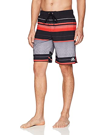 61ae8417bb ZeroXposur Mens Wicked 4 Way Stretch Board Short/Swim Trunks Red Solar Small