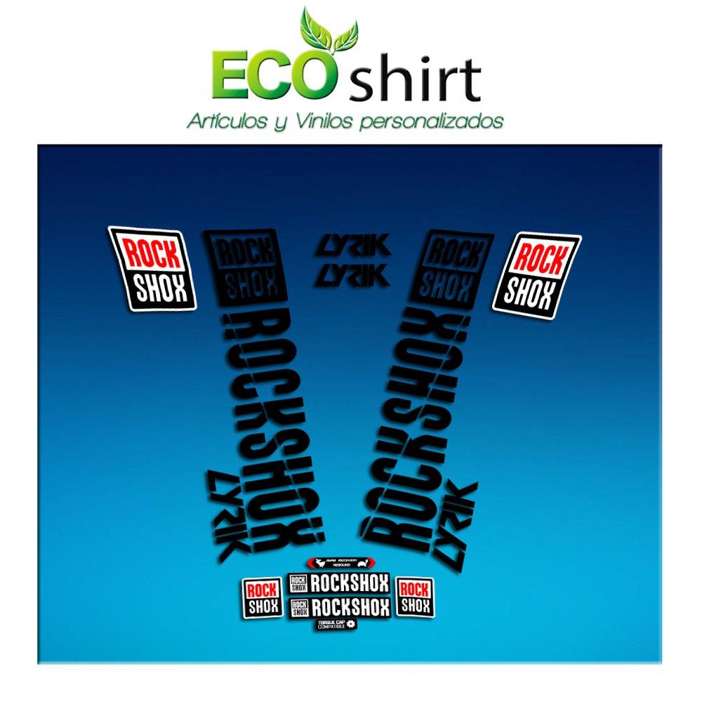 schwarz Ecoshirt JL-N004-03L5 Sticker Stickers Fork Rock Shox Lyrik 2018 Am176 Aufkleber Decals Autocollants Adesivi Forcela