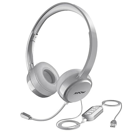 Amazon Com Mpow 071 Usb Headset 3 5mm Computer Headset With