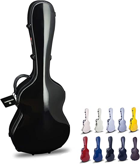 Crossrock crf1000cbk Fibra de vidrio clásica funda para guitarra hardshell- tipo mochila para 4/4 tamaño completo en color negro: Amazon.es: Instrumentos musicales