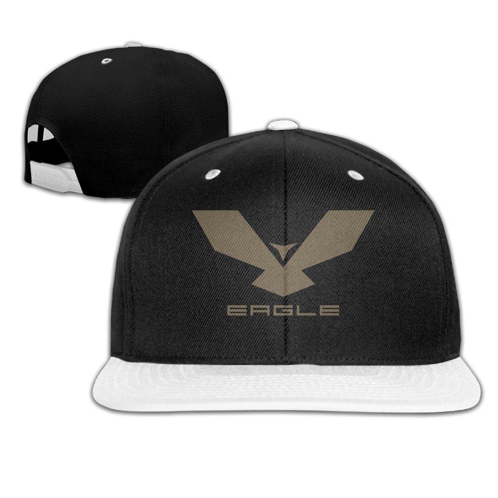 Eagle Badge Snapback Adjustable Baseball Unisex Cap White