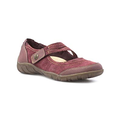 de7ed01784 Earth Spirit Womens Red Leather Casual Shoe - Size 8 UK - Red ...
