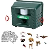 Repel Animal Ultrasonic Outdoor Pest Repellent,Animal Pest Repeller Pest Control with Motion Detector Rodents, Cats, Rats, Mouse, Mice ...