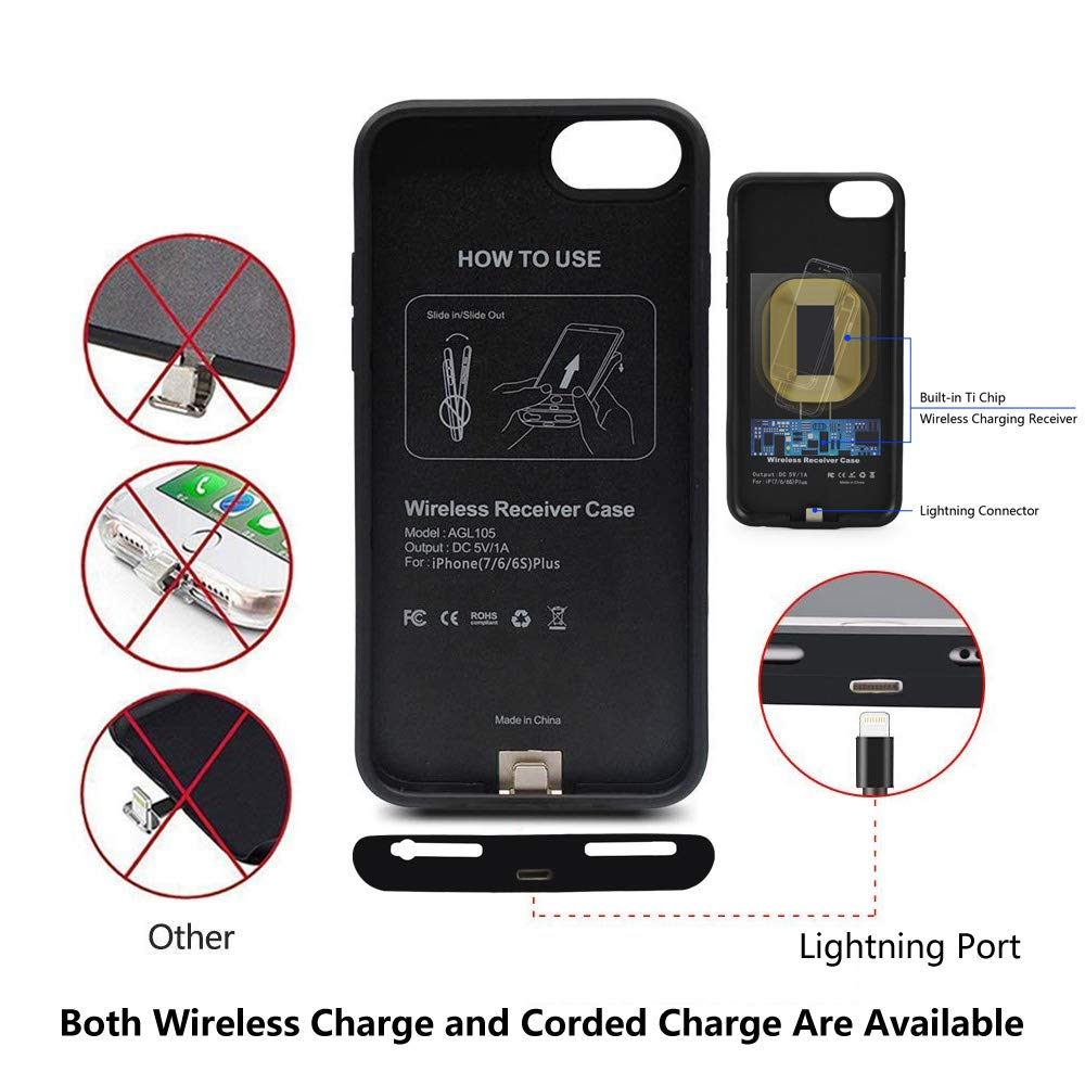 Amazon.com: Qi - Cargador inalámbrico para iPhone 7, 6S ...