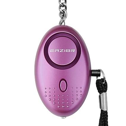 Llavero con alarma de seguridad personal aprobado por la policía, de la marca Eazior. Tamaño pequeño, emite una potente alarma de 140 dB, para estar ...