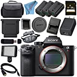 Sony ILCE7RM2/B Alpha a7R II Mirrorless Digital Camera (Body Only) + 128GB SDXC Card + NP-FW50 Lithium Ion Battery + Professional 160 LED Video Light Studio Series + Micro HDMI Cable Bundle