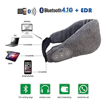 5972a367451 Langder Wireless Bluetooth Eye Mask headphone Sleeping Headphone Eyemask  Built-in Speakers Micophone,Hand