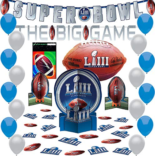 Super Bowl LIII 53 Party Supplies Pack
