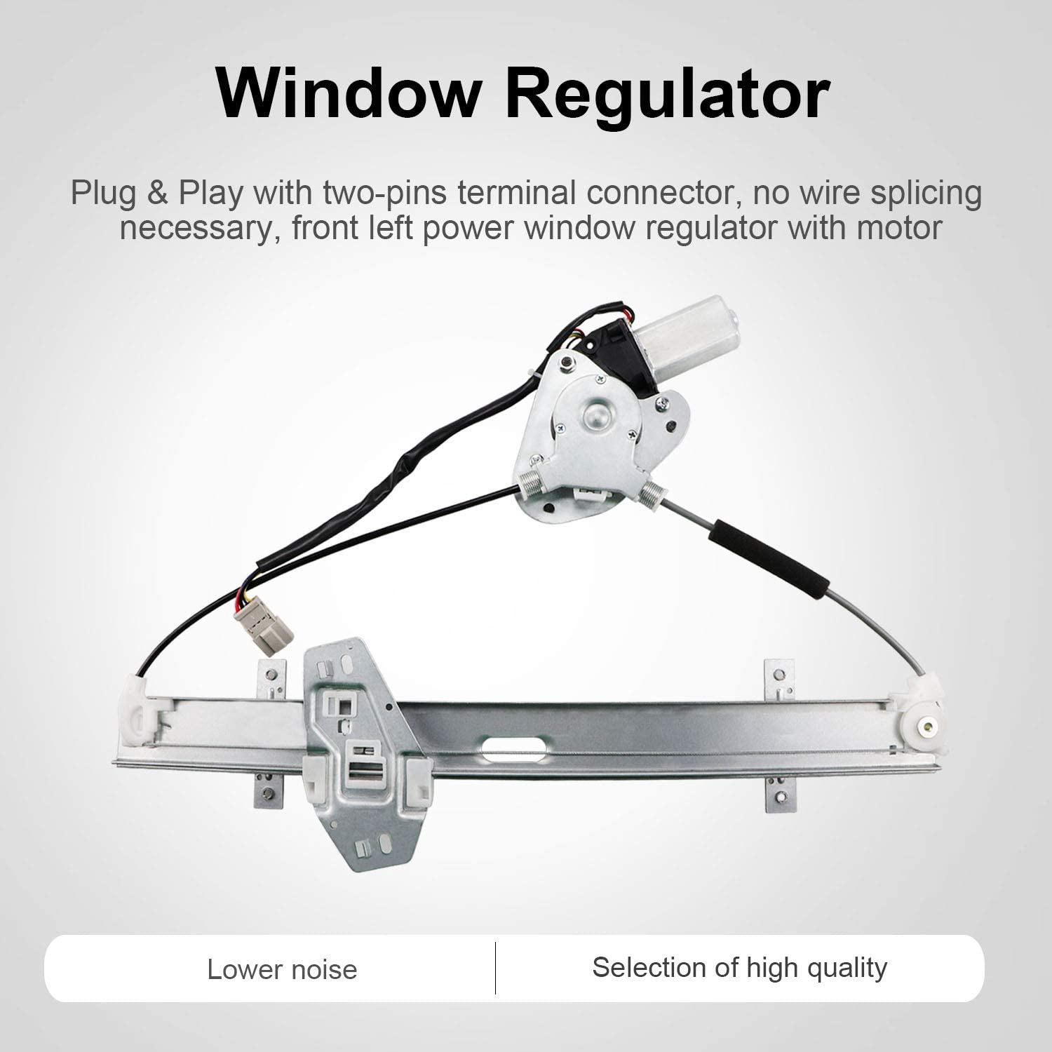 Front Left Driver Side Power Window Regulator with Motor for 1998 1999 2000 2001 2002 Honda Accord 72250S84A02 11A175 212-0001 47-1567 744-766