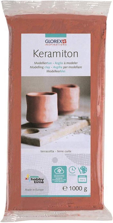 Terracotta 1000/G TON Glorex 61780707/Keramiton 18/x 9/x 3,5/cm